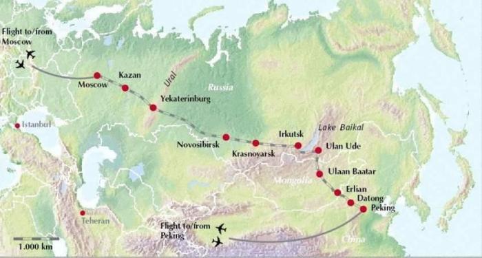 Transsibirya rotası