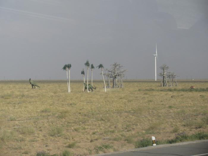 Gobi çölünde dinazor