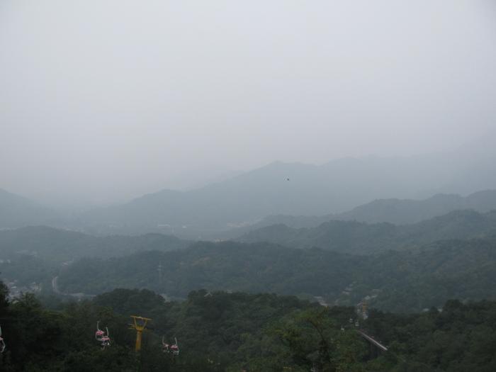 Çin seddinden manzara