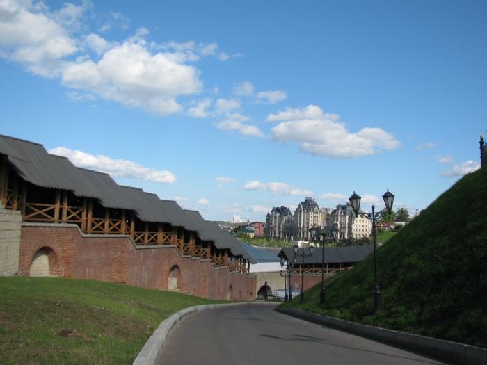 Kazan Kremlin duvarları