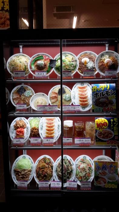 Burada estoranların önünde vitrine böyle yemek maketleri koyuyorlar. Seç beğen al. Çok kolay