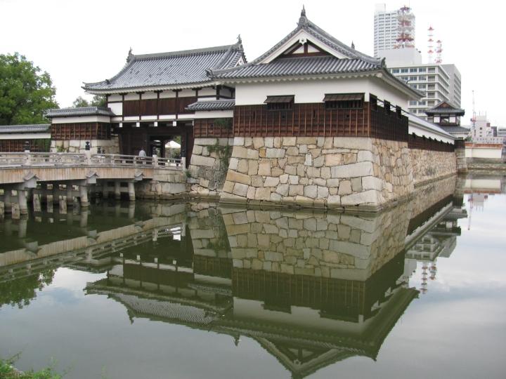Hiroşima kalesi girişi