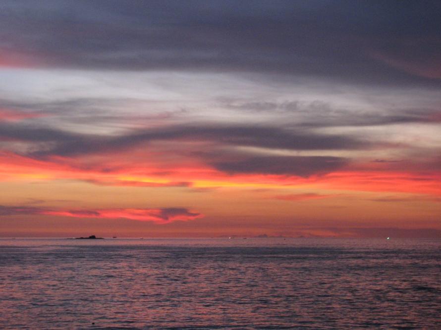 Pantai cenang Gün batarken