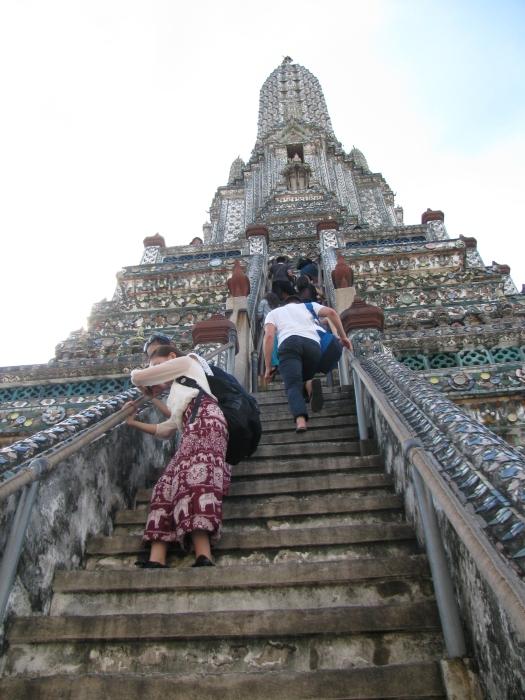 Wat Arun'a tırmanış