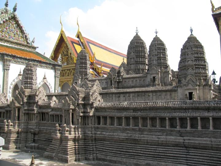 Kamboçya'da ki Anchor harabeleri maketi