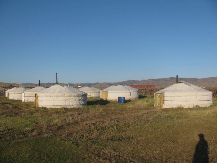 Karakurum'da ger kampı