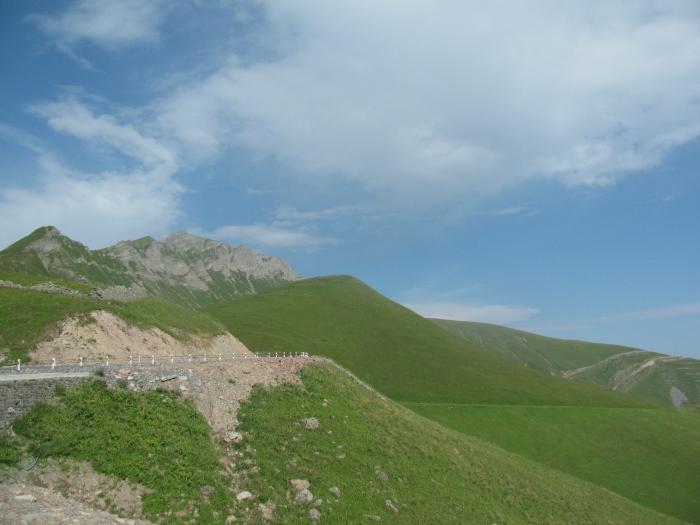 Kazbegi'ye tırmanırken