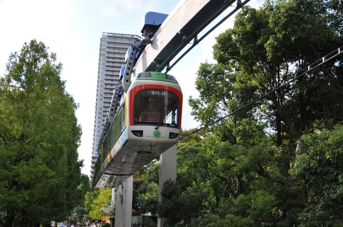 Japonya Tokyo'da tramvay yolu