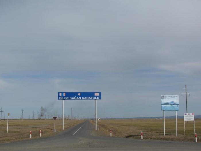 Moğolistan Karakurum'da Bilge Kağan karayolu