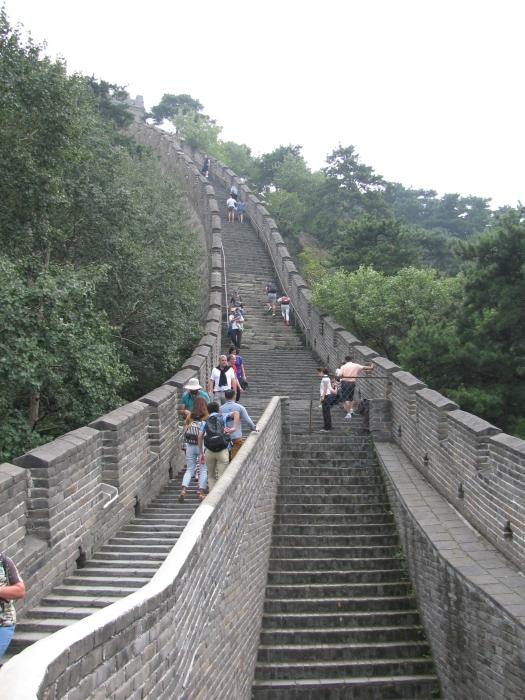 Çin Pekin'de Çin Seddinde  yürüyüş yolu