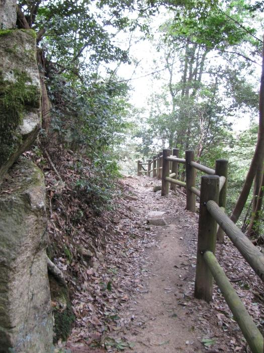 Japonya Miyajima adasındaki yürüyüş yolu
