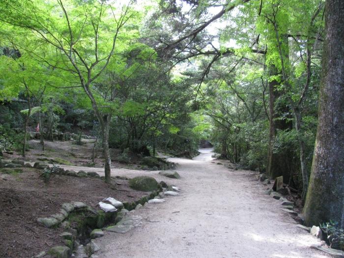 Japonya Hiroşima'da yürüyüş yolu