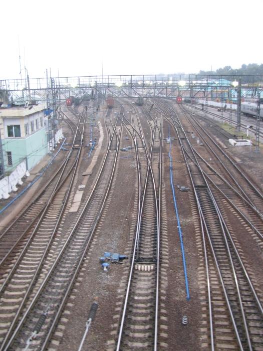 Rusya İrkutsk'da tren yolu