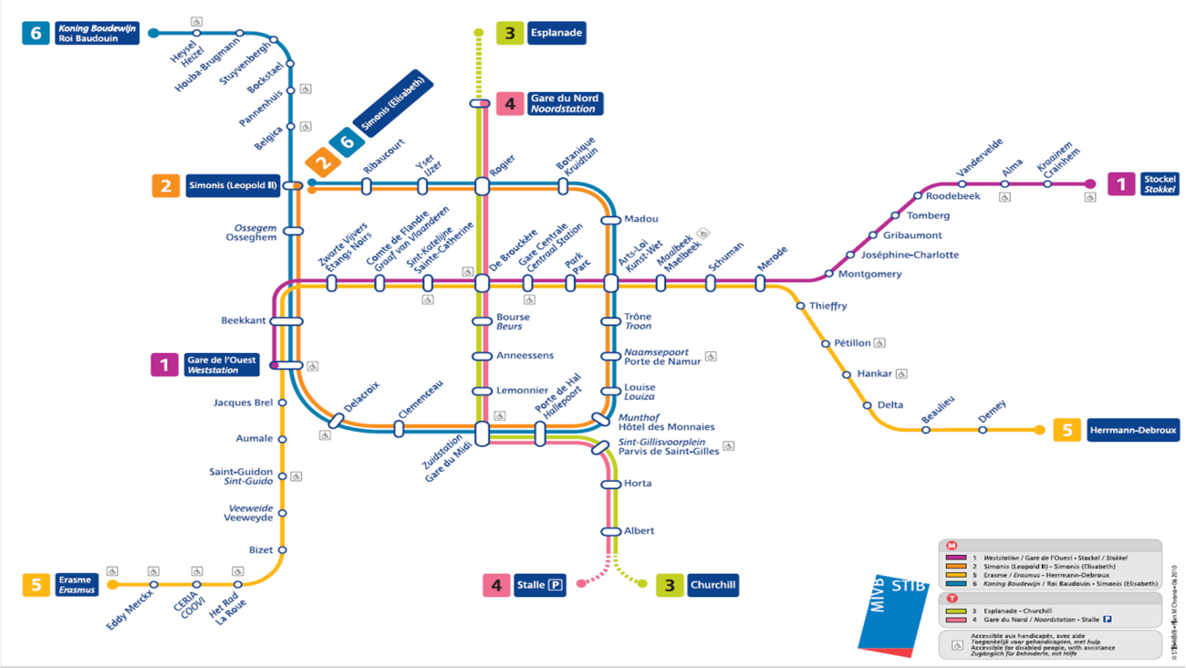 Brussels Metro Map_July 2010