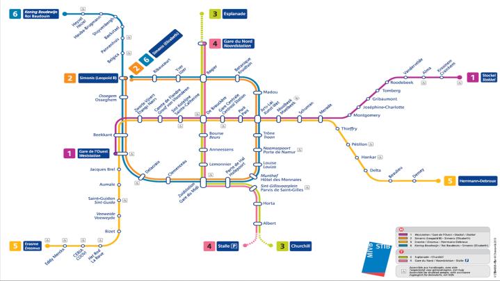 Brussels Metro Map_July 2010