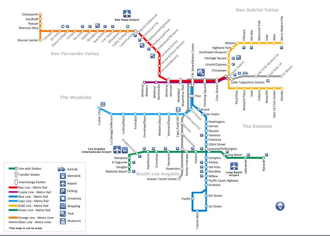 conceptdraw_sample_of_metro_map_style_inforgraphics_los_angeles_metro_rail_and_liner