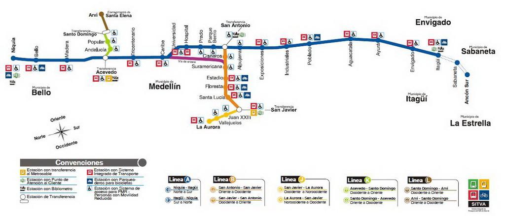 Metro de Medellin - Route1